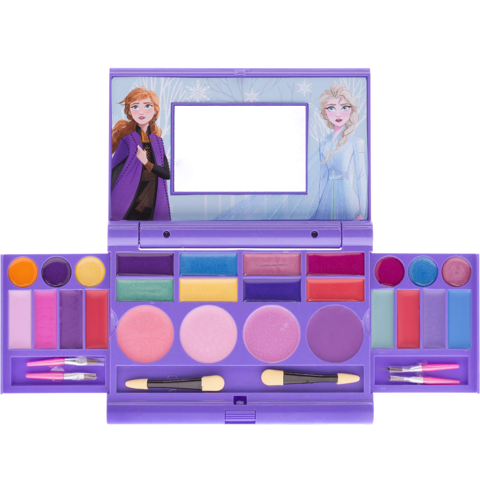 Townley Girl Disney Frozen Elsa and Anna Beauty Makeover Compact with Mirror for Girls, Including 6 Lip Glosses, 4 Blushes, 8 Eye Shadow Creams and 8 Eye Shadow Powders, Ages 3 and up by Townley Girl
