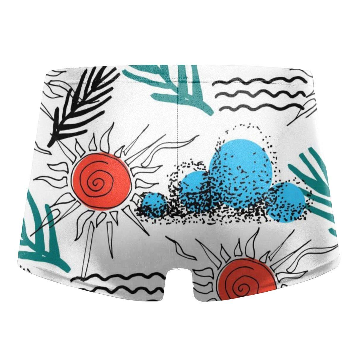 G66TCX Mens Boxer Swimwear Floral Basic Swimsuits Board Swimming Board Shorts Swim Underwear
