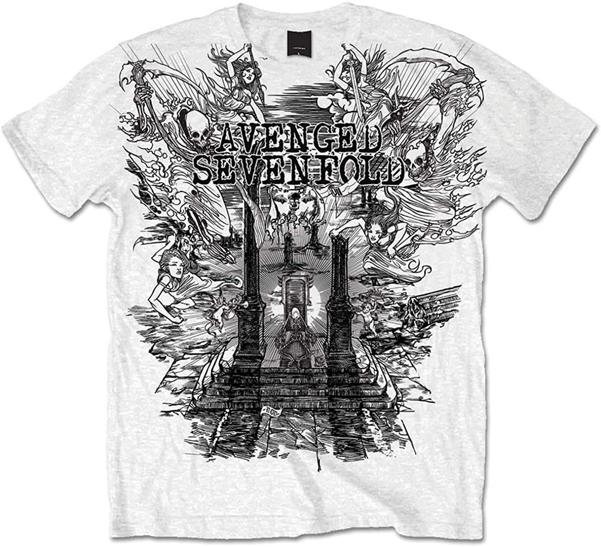 Rock Off Avenged Sevenfold A7X Land of Cain Oficial Camiseta ...