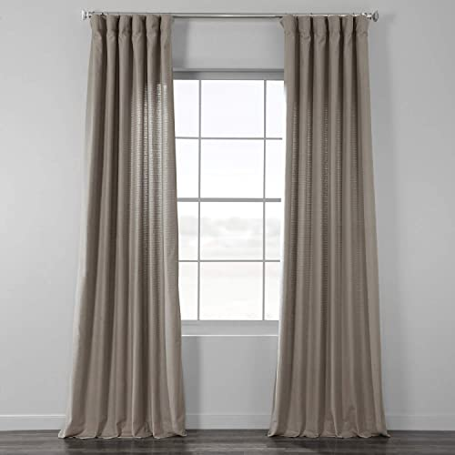 HPD Half Price Drapes BWLK-1855-120 Cotton Textured BarkWeave Curtain 1 Panel