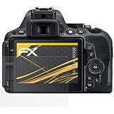 Nikon D5500 Protezione Pellicola dello Schermo - 3 x atFoliX FX-Antireflex anti-riflesso Pellicola Protettiva