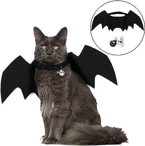Angshop Disfraz de Gato Halloween, Mascota, Bate de alas, Disfraz ...