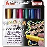 PlayColor 10351 - Caja de 6 temperas solidas 5 g, colores surtidos