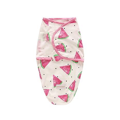 Suave y ajustable 100% algodón bebé Swaddle Wrap manta para bebé unisex (0 –