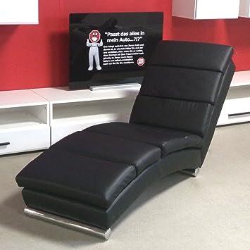 Möbel Akut Relaxliege Chaiselongue Polsterliege Liegesessel Schwarz