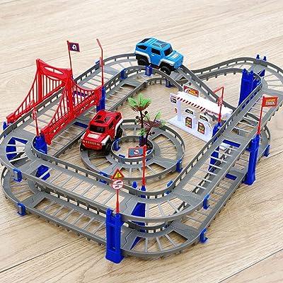 Lacegre Durable Children DIY Electric Rail Car Set Assembling Toys Educational Toy Blocks: Home & Kitchen