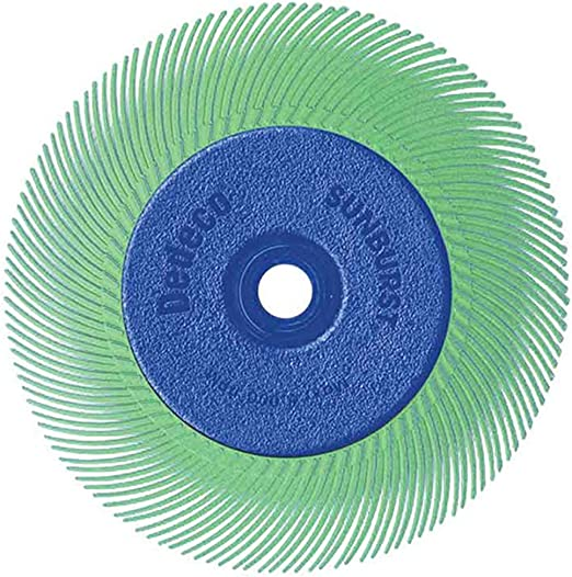 3 Inch TA Radial Bristle Discs Industrial Thermoplastic Rotary Cleaning and Polishing Tool Dedeco Sunburst 3//8 Inch Arbor 10, 3 Inch- Ultra-Coarse 36 Grit