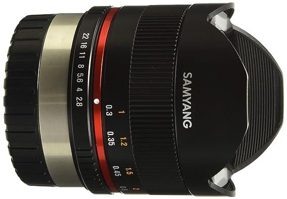Samyang 8 mm F2.8 UMC Fisheye Manual Focus Lens for Fuji X  Black