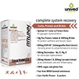 Unived Rrunn Post Recovery Sports Drink Mix, Complete System Recovery, 4:1 Carb:Protein With Vegan European Pea Protein, Coco Vanilla Flavour, 6 Servings (0.75Lbs, 341G)
