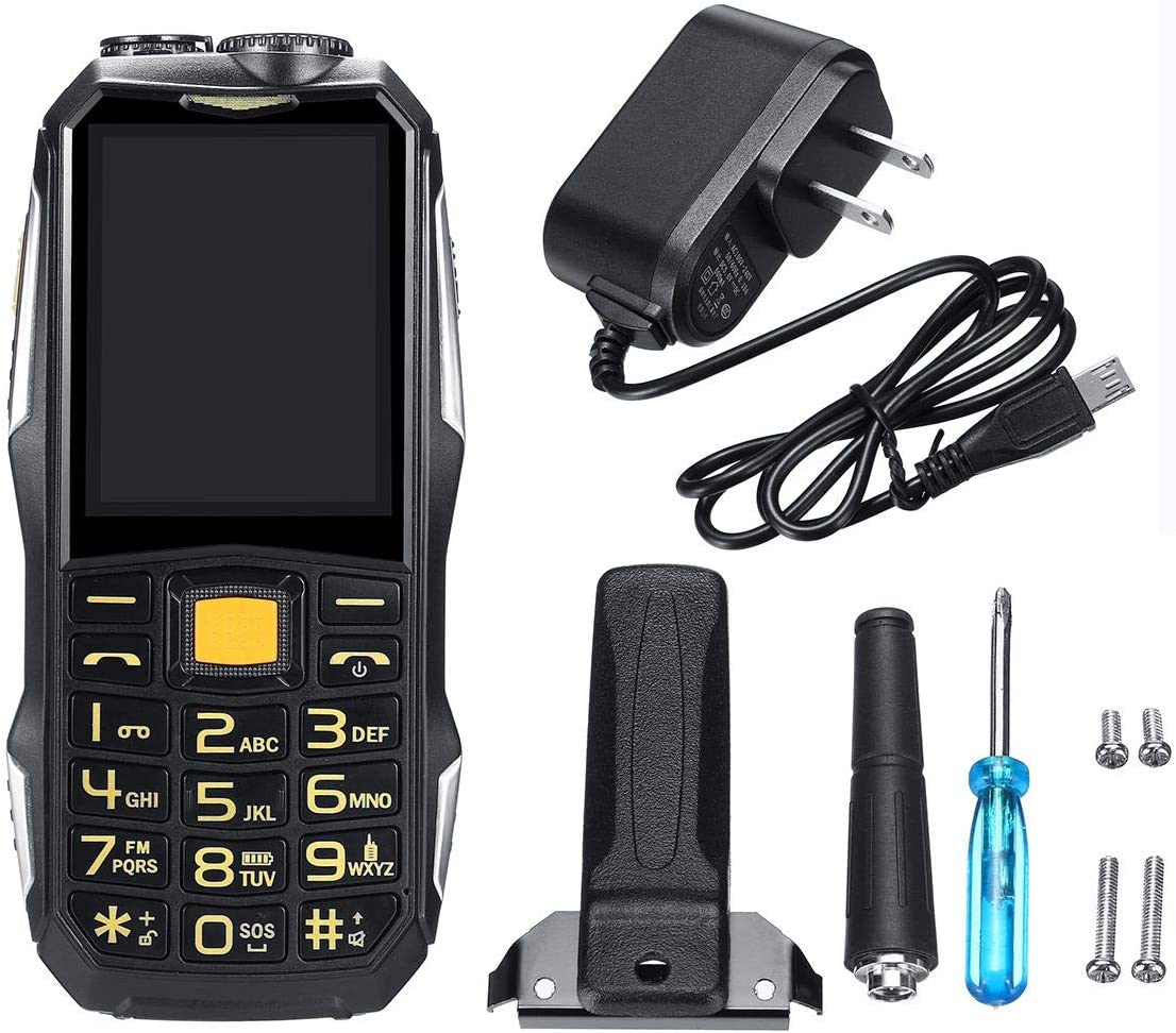 Walkie talkie, 2.4inch 19800mah resistente Dual SIM GSM walkie ...