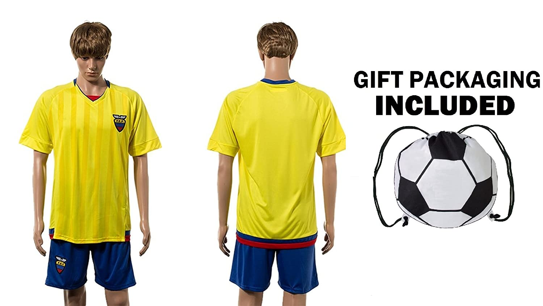 Amazon.com : Fan Kitbag Ecuador Home Mens Soccer Jersey & Shorts Premium Gift Kitbag ✮ BONUS GIFT Soccer Backpack : Sports & Outdoors