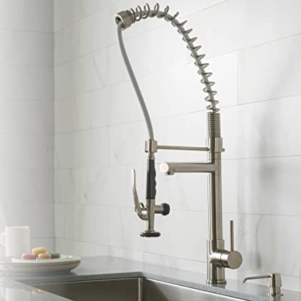 Kraus KPF48SS Single Handle Pull Down Kitchen Faucet Commercial Unique Kitchen Faucet Design