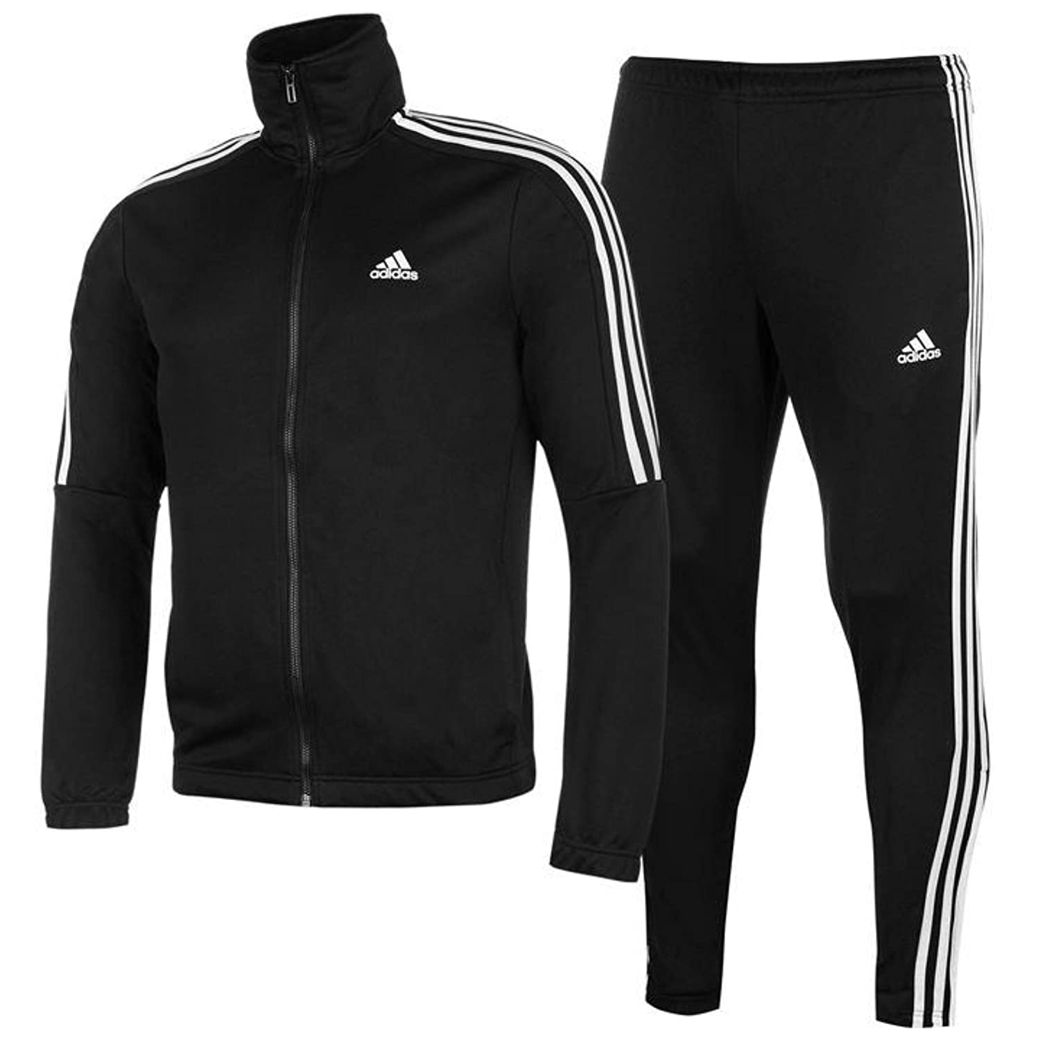 e8799e63 Amazon.com: adidas Men s Tiro Track Suit 3 Stripes Tracksuit Black/White  (2XL): Clothing