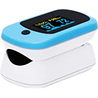ELKO EL-560 FDA Approved Finger Tip Pulse Oximeter with Oxygen Saturation, Pulse Rate & Perfusion Index (Blue)