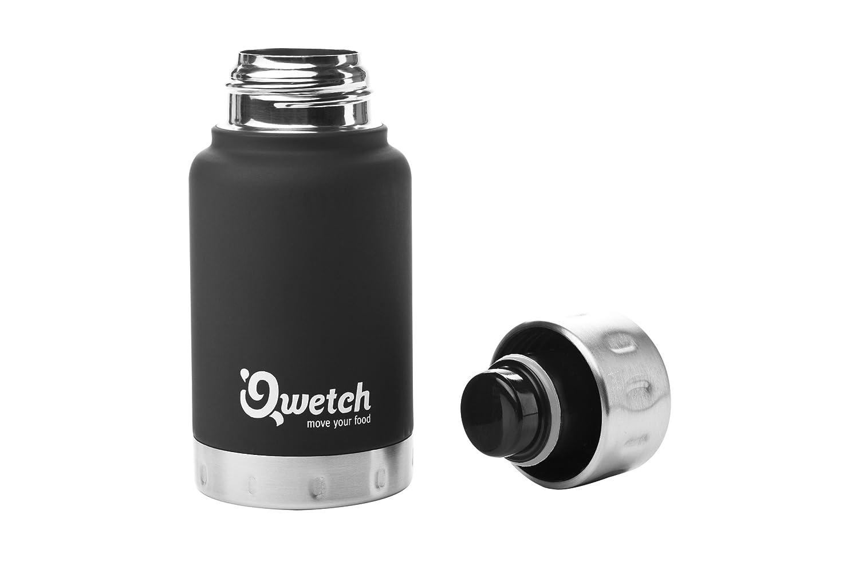 isotermica 160 ml Mug//Tazza per caff/è Espresso Qwetch QC4001 Colore: Nero