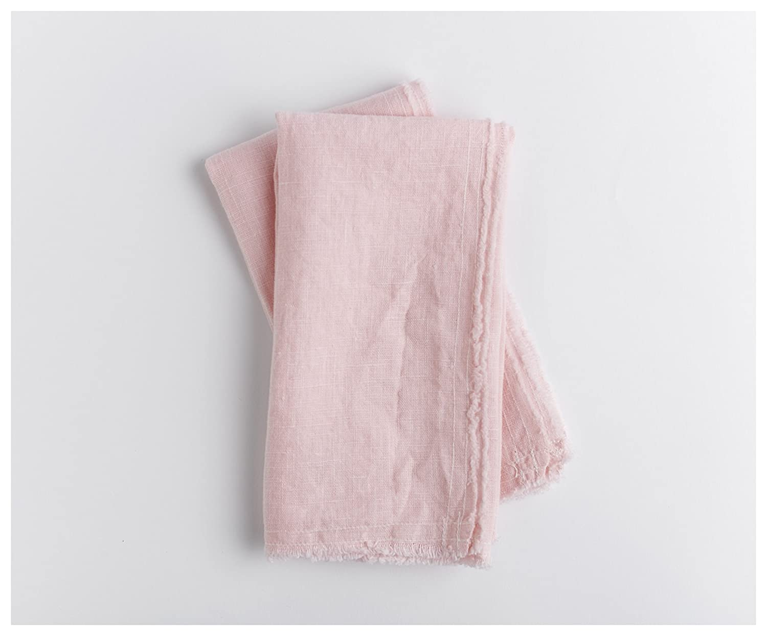 Blush pink linen Napkins- Set of 2 - Linen Napkins