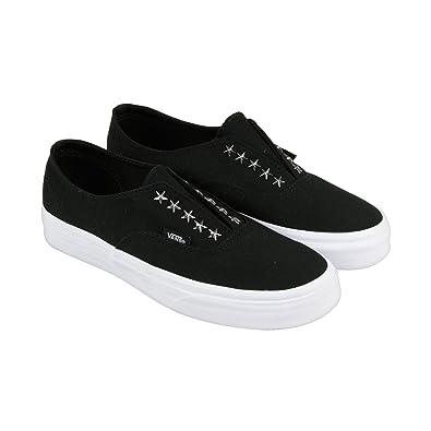 Vans Authentic Gore 90s Star Stud Black Womens Shoes 55 Men