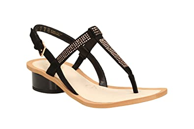e3228b233 Clarks Womens Casual Sandcastle Top Suede Sandals In Black  Amazon ...