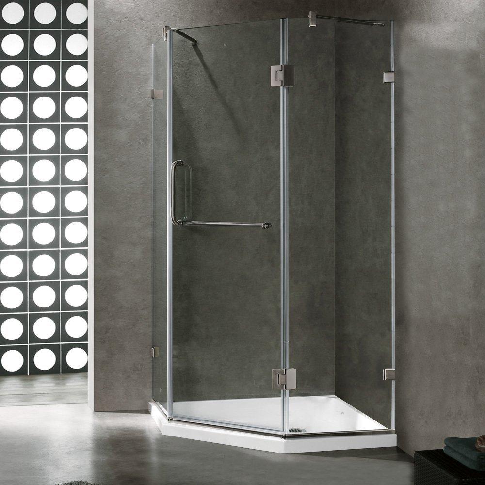 VIGO Piedmont 36 x 36-in. Frameless Neo-Angle Shower Enclosure with ...