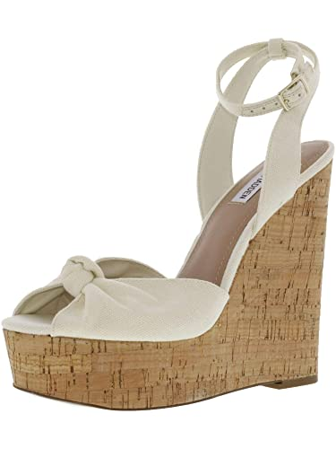 1d78a6b6580 Amazon.com | Steve Madden Women's Katherine Beige Fabric Wedged ...
