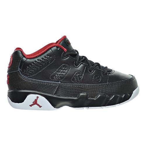 b52bac74612470 Jordan 9 Retro Low BP Little Kid s Shoes Black Gym Red White 833905-