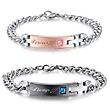 Amazon Price History for:NEHZUS His and Hers Stainless Steel Matching Bracelet for Couple