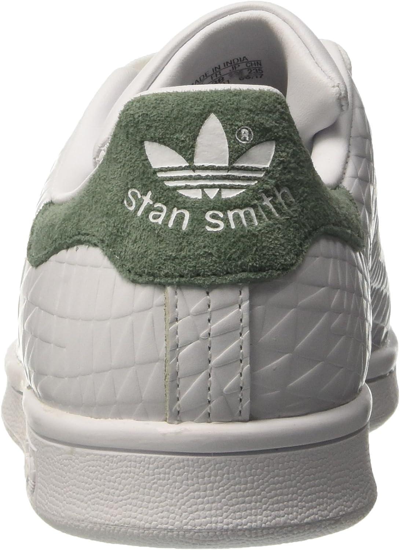adidas Stan Smith, Baskets Mode Femme Blanc (Footwear White/Footwear White/Trace Green)