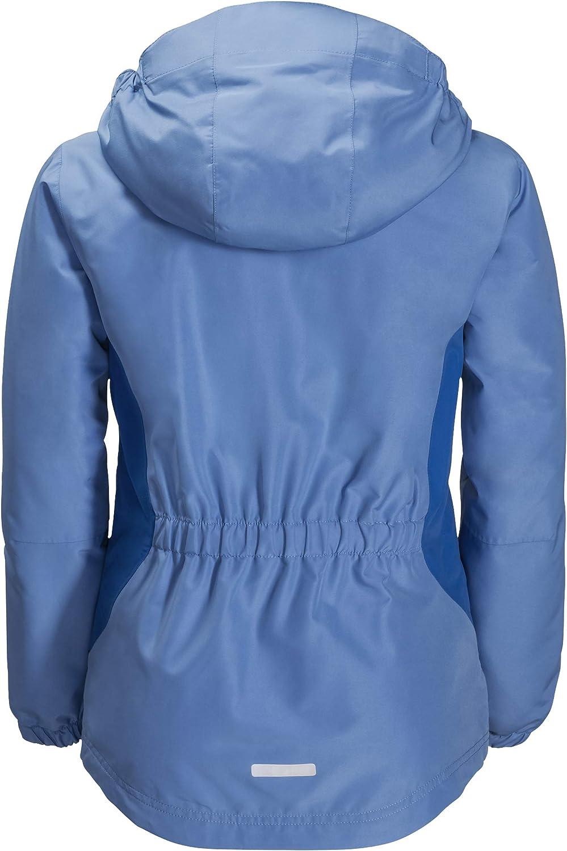 Jack Wolfskin Girl's G Kayak Falls Waterproof Insulated Jacket, Zircon Blue, Size176(14Years&Older)