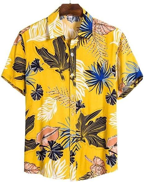 Nuevas Camisas Hawaianas de Playa de Manga Corta para Hombre Camisas Florales Ocasionales de algodón Regular Plus Size 3XL Ropa para Hombre Moda: Amazon.es: Deportes y aire libre