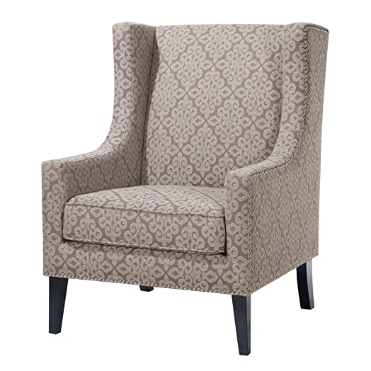 Madison Park Barton Wing Chair, 30.3 x 33.9 x 40.9, Multicolor