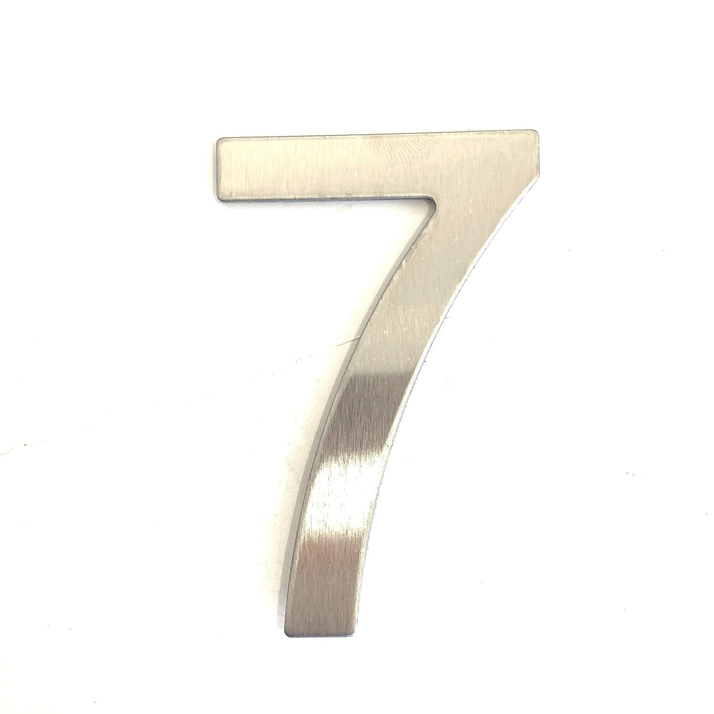 Num/éro 4 de rue en acier inoxydable adh/ésif 4 num/éro de porte design hauteur 7.5 cm num/éro de maison