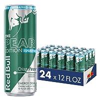 Red Bull Energy Drink, Sugar Free Crisp Pear, Sugarfree Pear Edition, 12 Fl Oz (...