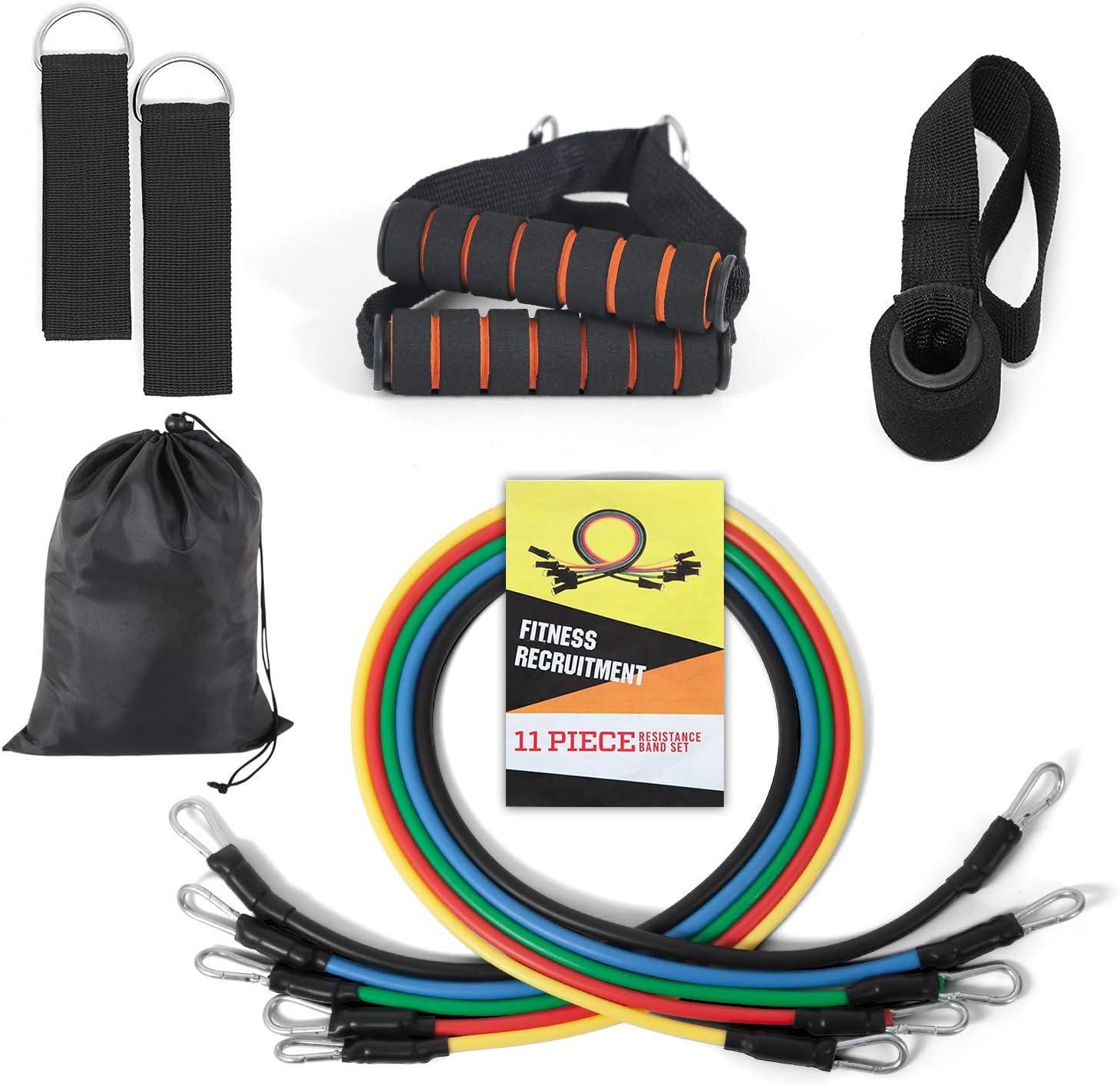 DiaryLook - Bandas de resistencia para entrenamiento de fuerza, bandas de ejercicio con asas, bandas para gimnasio en el hogar