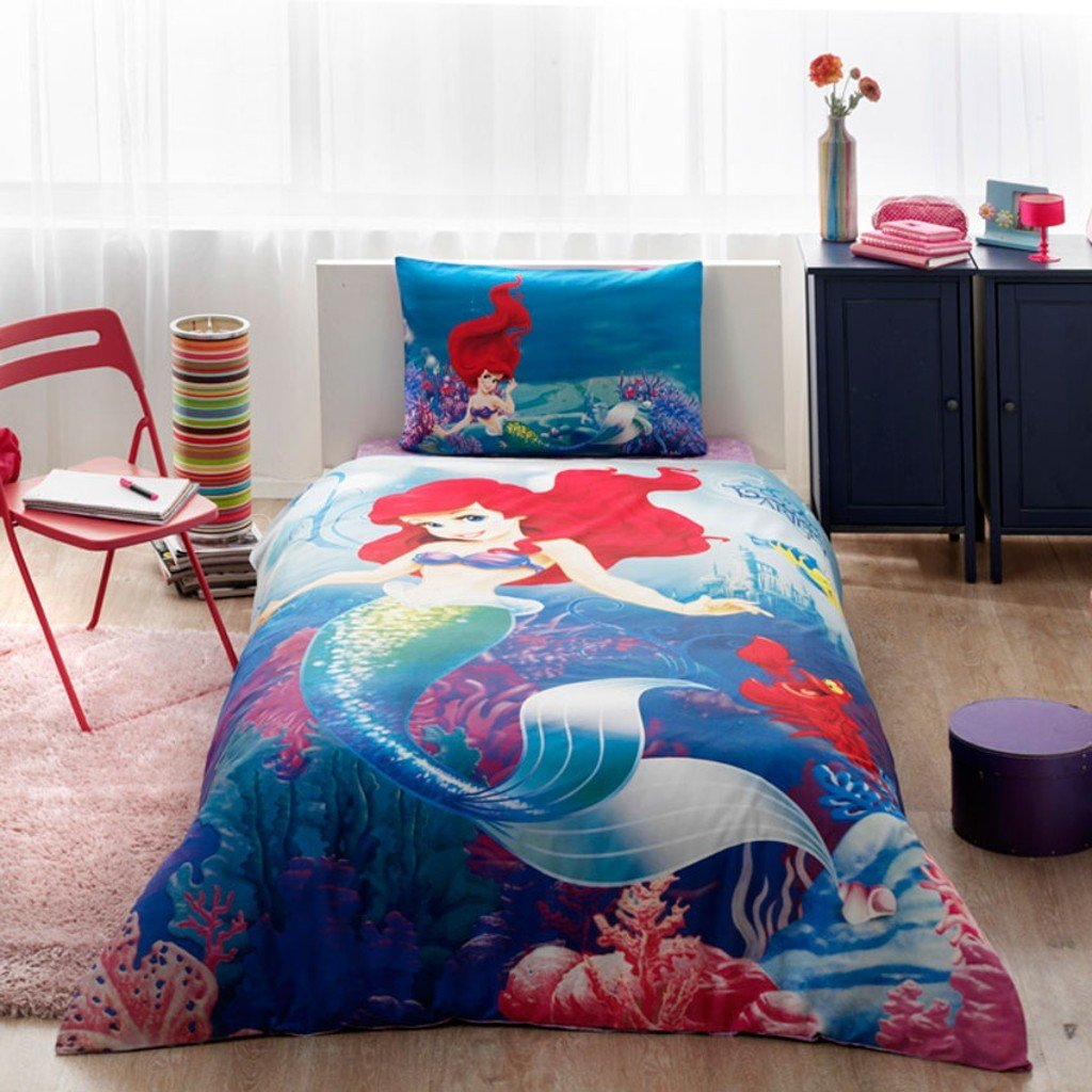 Admirable Amazon Com Disney Ariel Bedding Duvet Cover Set New Machost Co Dining Chair Design Ideas Machostcouk