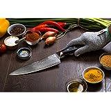 "Ironstone® ""Grand Series"" Pro Chef Knife Aus-10 Ultra-Premium Steel 200mm (8"") Blade & 52mm Heel"