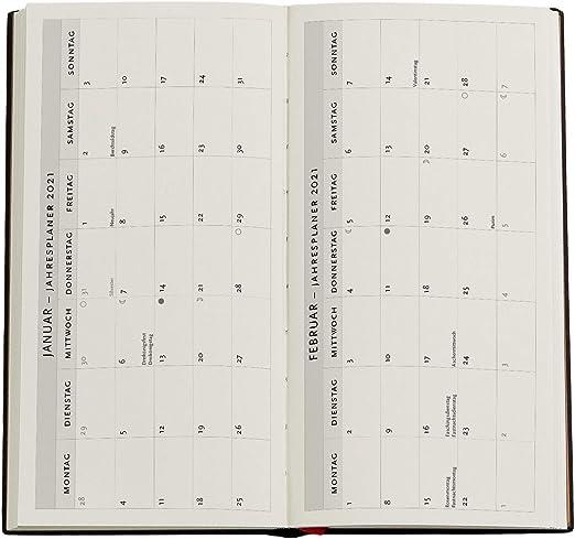 95 /× 180 mm Schlank Paperblanks 12-Monatskalender 2021 Ougi Horizontal DD6689-7