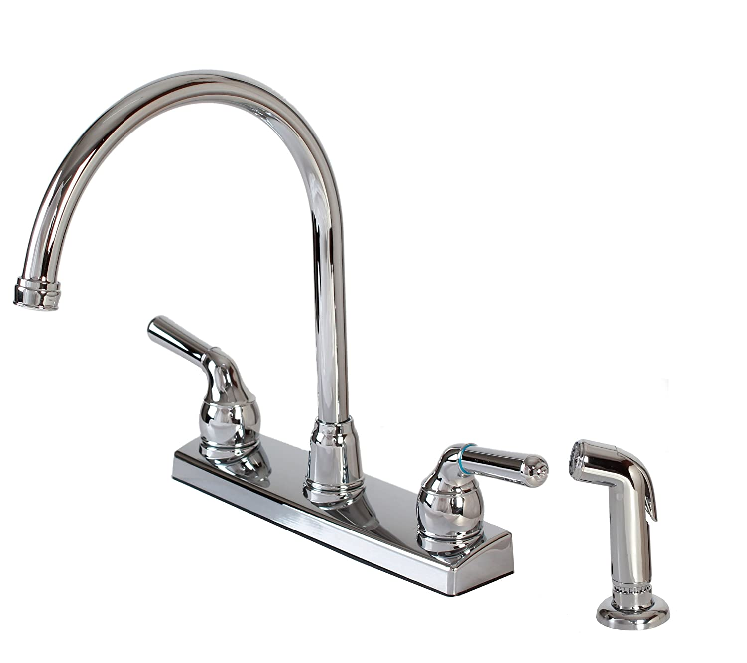 Hardware House 122009 2-Handle Non-Metallic Kitchen Faucet with ...