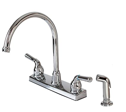 Hardware House 122009 2 Handle Non Metallic Kitchen Faucet With