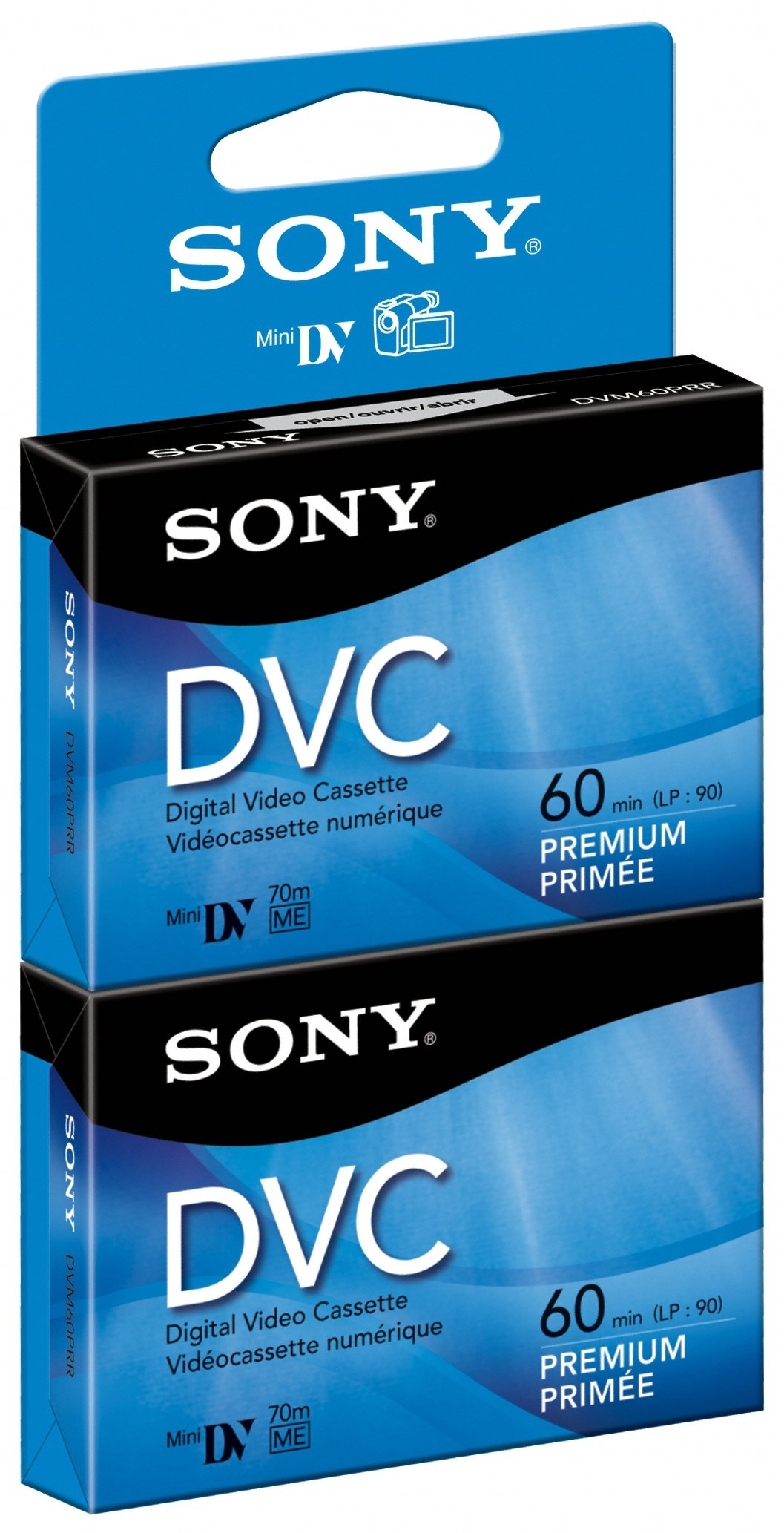 Sony DVM60PRR/2  60 min Premium DVC with Hangtab (2 Pack) by Sony
