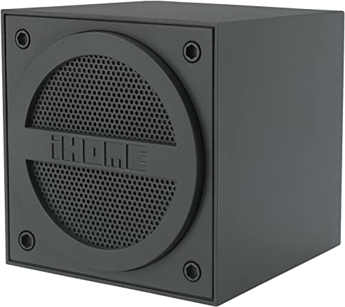 iHome Bluetooth Rechargeable Mini Speaker Cube – Black 1st Version iBT16GC