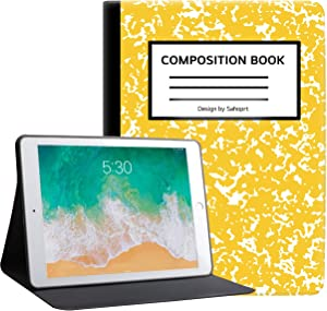 "ipad 10.2"" inch 2019/2020 Case, ipad 7th/8th Generation Case Cover, Sahoprt Premium Leather Protect Cover for Apple Tablet, Adjustable Stand with Auto Wake/Sleep, Composition Book"