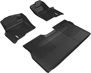 ARIES 2802909 StyleGuard XD Black Custom Floor Liners, Select Ford F-150 Crew Cab, 1st and 2nd Row