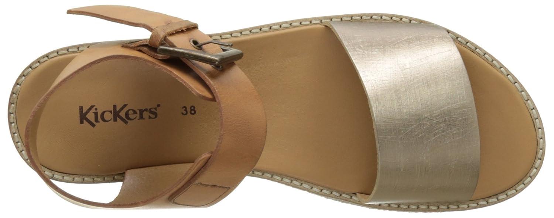 4b2a1892c9a762 Kickers Victory, Sandales Bout Ouvert Femme, (Marron Or), 37 EU: Amazon.fr:  Chaussures et Sacs
