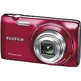Fujifilm FinePix JZ100 Digitalkamera (14 Megapixel, 8-fach opt. Zoom, 6,9 cm (2,7 Zoll) Display, bildstabilisiert) rot