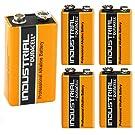 Duracell Industrial Alkaline Batterie Block 9V 6LF22, 5 pieces
