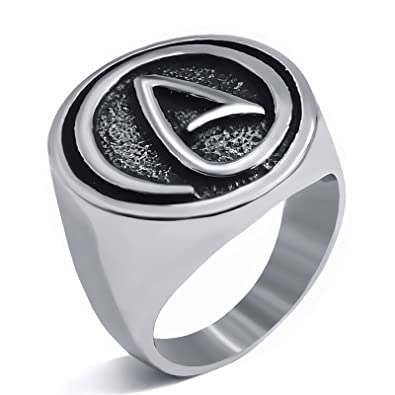 Elfasio Mens Womens Stainless Steel Rings Atheist Atheism Jewelry
