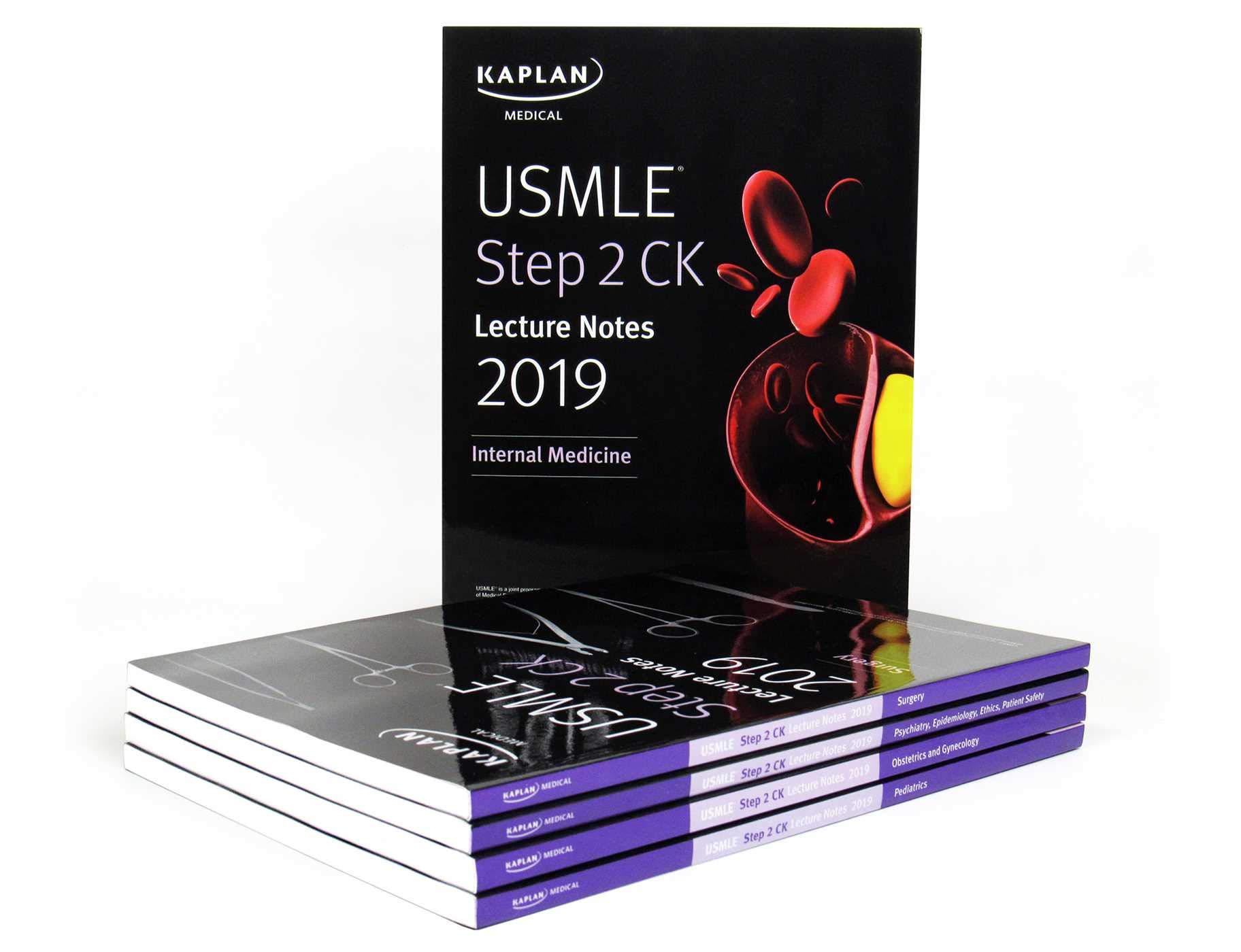 Buy USMLE Step 2 CK Lecture Notes 2019: 5-book set (Kaplan Test Prep