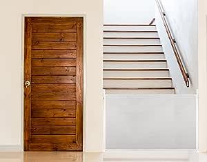 UPP Rejilla extensible y universal hasta 140 cm para rejilla de escaleras, rejilla de protección para puertas, niños, perros, estor de protección o para escaleras, pared separadora, Blanco: Amazon.es: Bebé