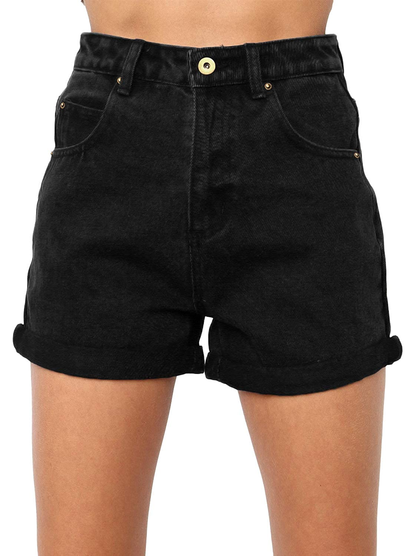 Amazon.com: Dokotoo pantalones cortos de jean de alto ...