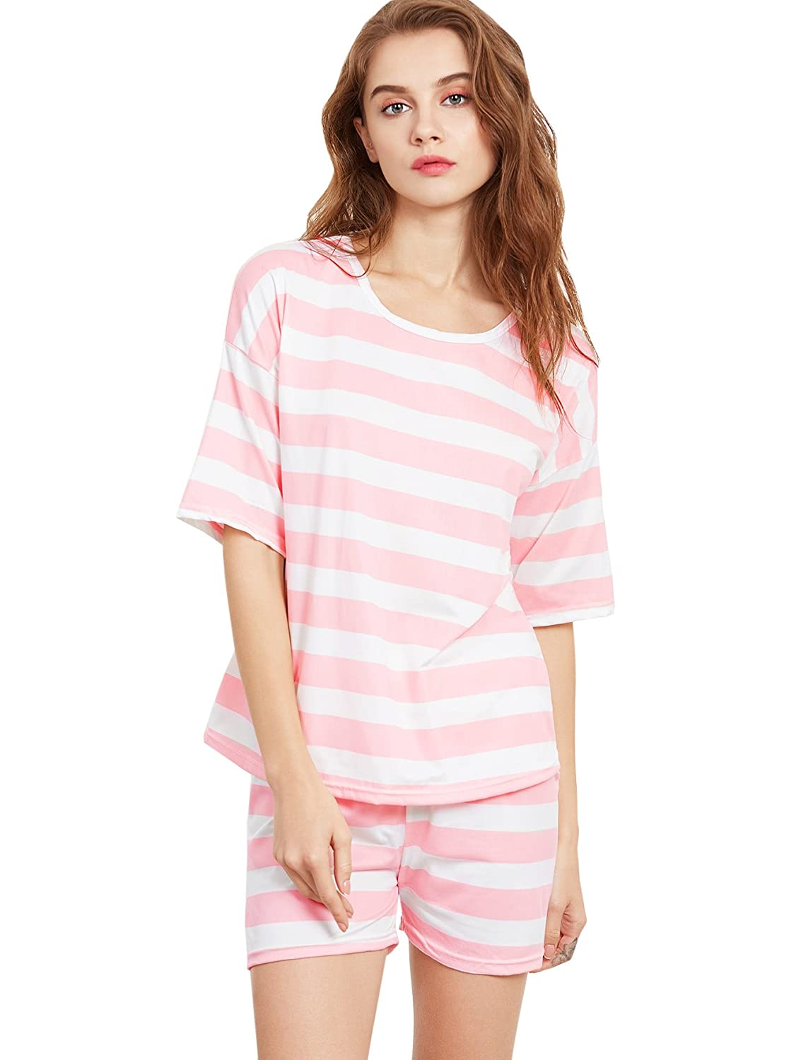c742b111d2 Online Cheap wholesale SheIn Womens Cherry Print Top and Shorts 2-Piece Pajamas  Set Sets Suppliers